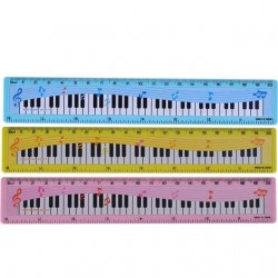 Zongora mintájú vonalzó - 15 cm