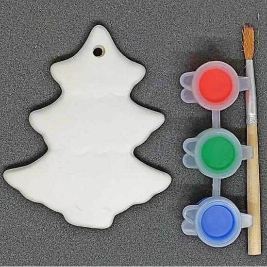 Karácsonyi dísz kifestő készlet gipsz figurával
