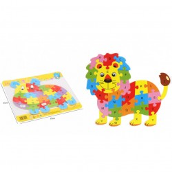 26 darabos állatos puzzle fából betűkkel