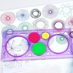 Spirográf rajzoló sablon gyerekeknek