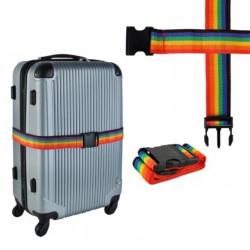 Bőrönd jelölő és rögzítő színes heveder