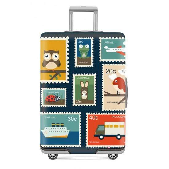 Bőrönd huzat bélyeg mintával