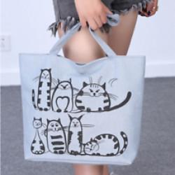 Cicás oldaltáska, bevásárló táska