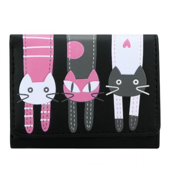 Női design cicás pénztárca
