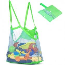 Hálós strandtáska - homokozós táska