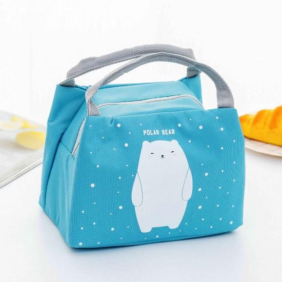Jegesmedve mintás hűtőtáska - ebéd hordó táska