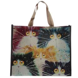 Őrült macskás bevásárló táska