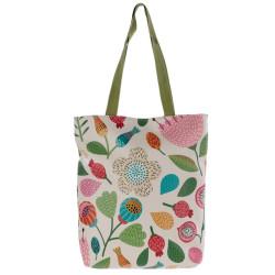 Őszi virágos válltáska, bevásárló táska