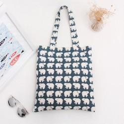 Vászon bevásárló táska jegesmedve mintával