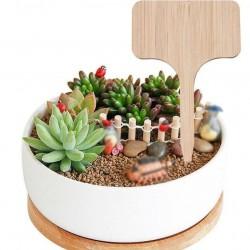 Növény jelölő fa tábla - 10 darab