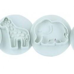 Állat mintájú rugós sütemény kiszúró forma