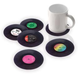 Bakelit hanglemez poháralátét - 6 db-os készlet