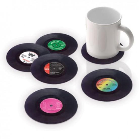 Bakelit hanglemez poháralátét - 4 db-os készlet