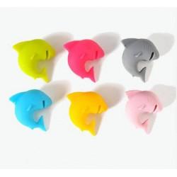 Pohár jelölő és teafilter tartó cápák