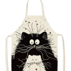 Cicás konyhai kötény - két macska