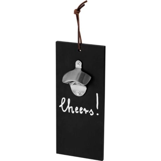 Falra akasztható fekete-ezüst sörnyitó