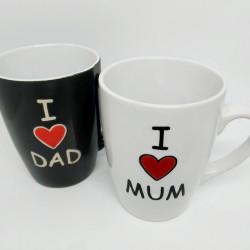 I love Mum, Dad bögre