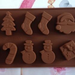Karácsonyi mintás szilikon forma