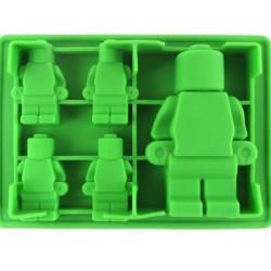 Lego figura szilikon forma - 1 nagy és 4 kicsi