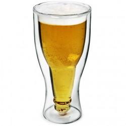 Sörös üveg dupla falú pohár