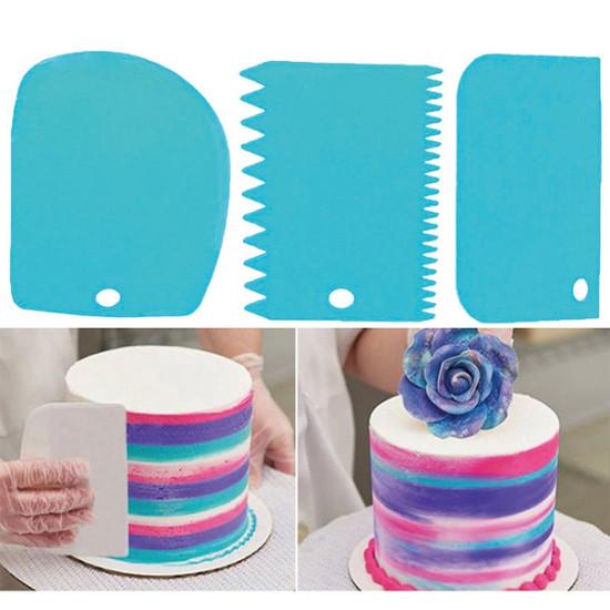 Torta dekoráló spatula - kaparó cukrászati kártya 3 db