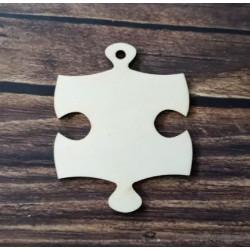 Gravírozható fa puzzle kulcstartó