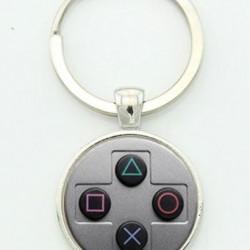 Retro gamer kulcstartó
