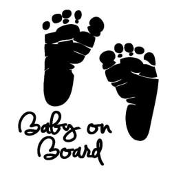 Baby on board lábnyomos autós matrica