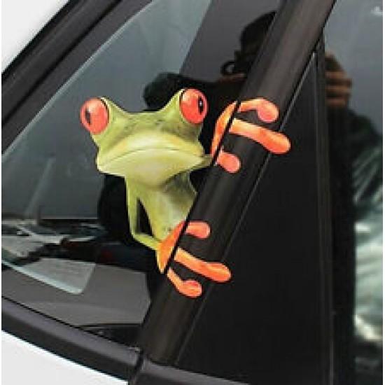 Béka autós ablak-matrica - leértékelt