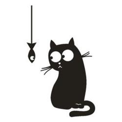 Cica hallal kapcsoló matrica
