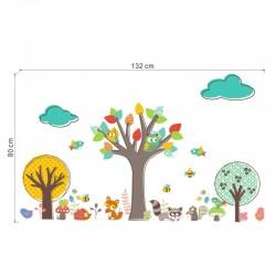 Erdei állatok, fák falmatrica gyerekszobába