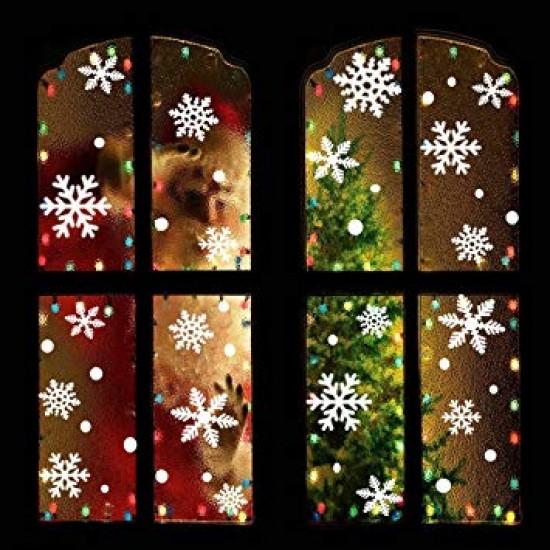 Hópehely újraragasztható ablak matrica 48 db