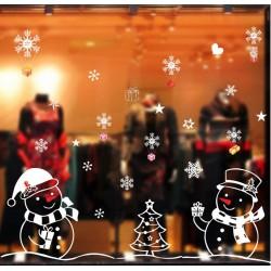 Karácsonyi hóemberes ablak matrica