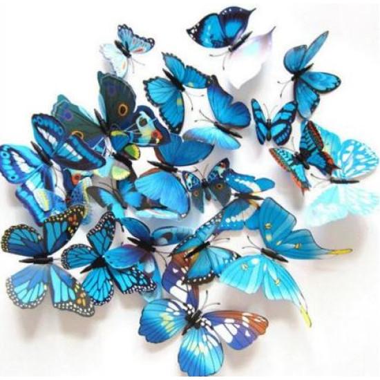 Pillangó 3D-s fal dekoráció