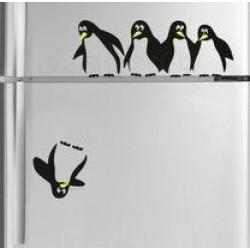 Pingvinek a hűtőn matrica