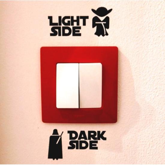 Dark side - light side kapcsoló matrica