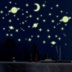 Világító égitestek - csillagok matrica