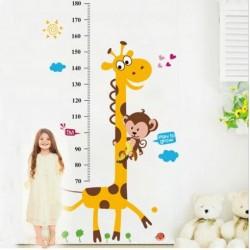 Zsiráf magasságmérő falmatrica