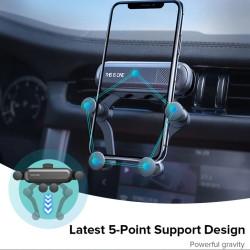 Szellőzőre csíptethető autós 5 pontos telefontartó