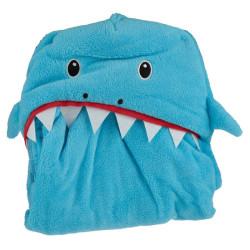 Cápás takaró kék színben