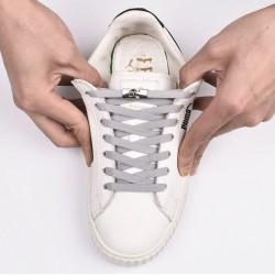 Lapos profilú elasztikus cipőfűző gyorsoldóval