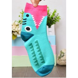 Krokodil mintás színes zokni