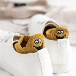 Emoji fejes vigyorgó boka zokni